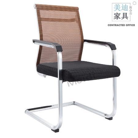 bgy22网布弓形椅咖色